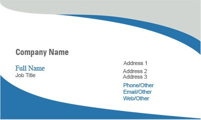 Blue, Gray and White Business Card Template